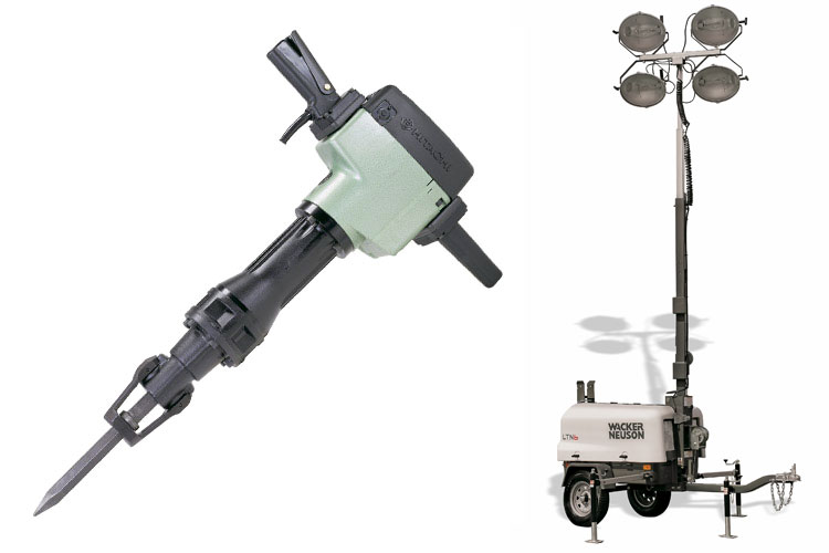 Hitachi Hammer Rentals and Floodlights